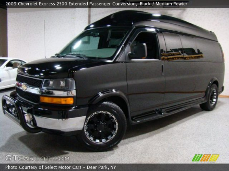 Black 2009 Chevrolet Express 2500 Extended Passenger Conversion with ...