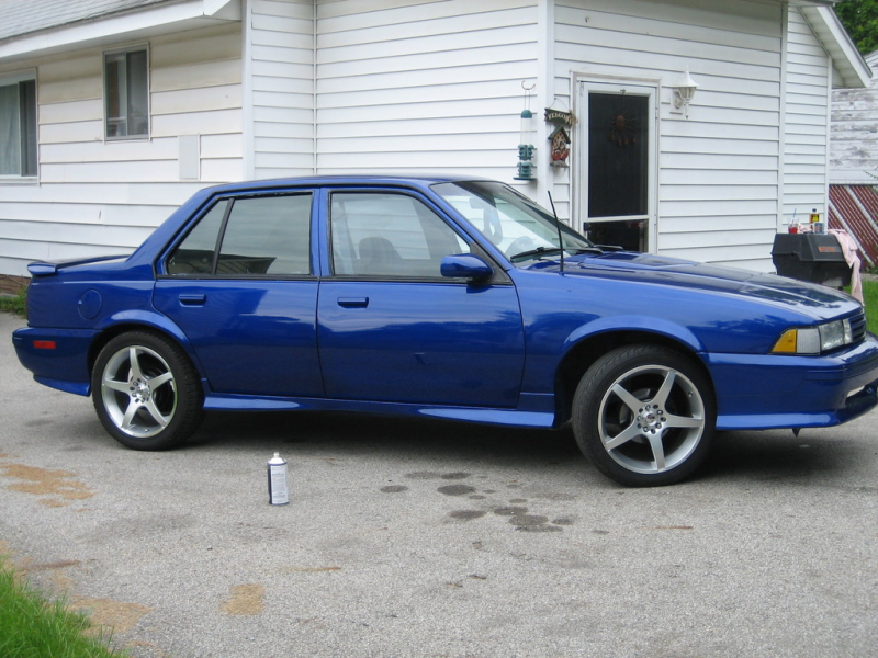chevrolet cavalier 90 cavalier 4 door w z24 body kit sonic blue