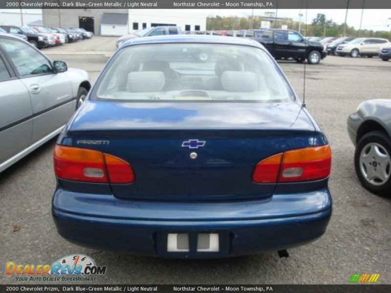 2000 Chevrolet Prizm Dark Blue-Green Metallic / Light Neutral Photo #3