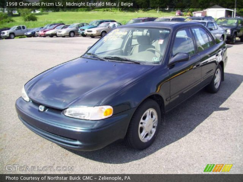 1998 Chevrolet Prizm LSi in Midnight Emerald Mica. Click to see large ...
