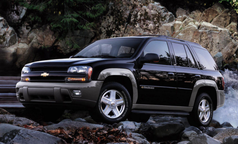 The 2002 Trailblazer, with the required two tone paint treatment, in ...
