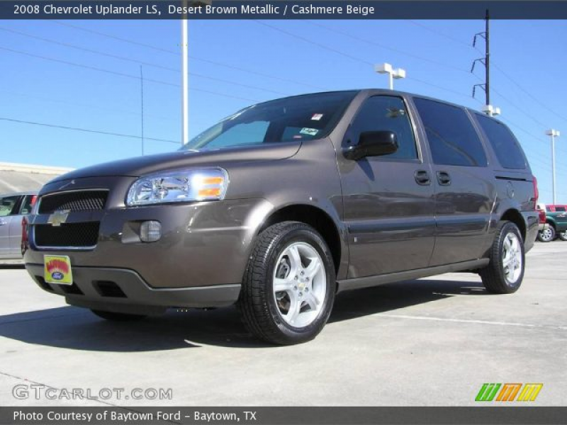 Desert Brown Metallic 2008 Chevrolet Uplander LS with Cashmere Beige ...