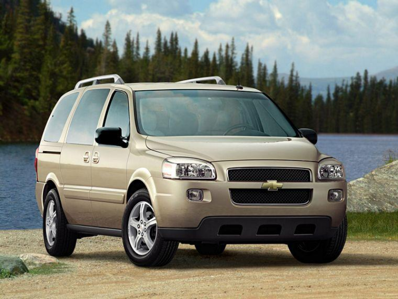 Front Right Tan 2007 Chevrolet Uplander SUV Picture