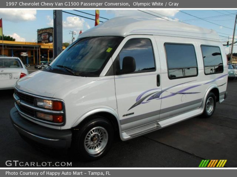 Olympic White 1997 Chevrolet Chevy Van G1500 Passenger Conversion with ...