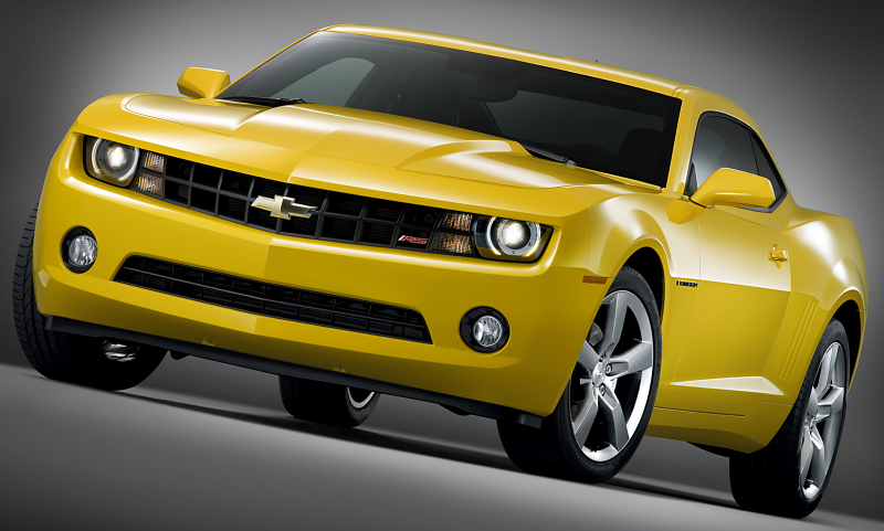 chevrolet camaro 2010 i n yellow
