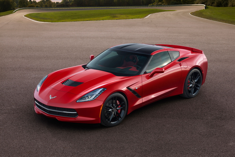 2015 Chevrolet Corvette Stingray Front Drivers Above View