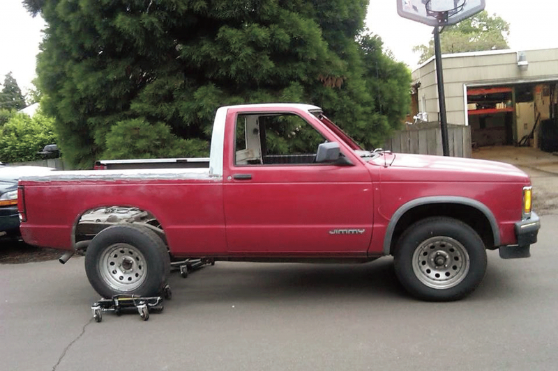 1994 Chevy S 10 Blazer With Top Removed