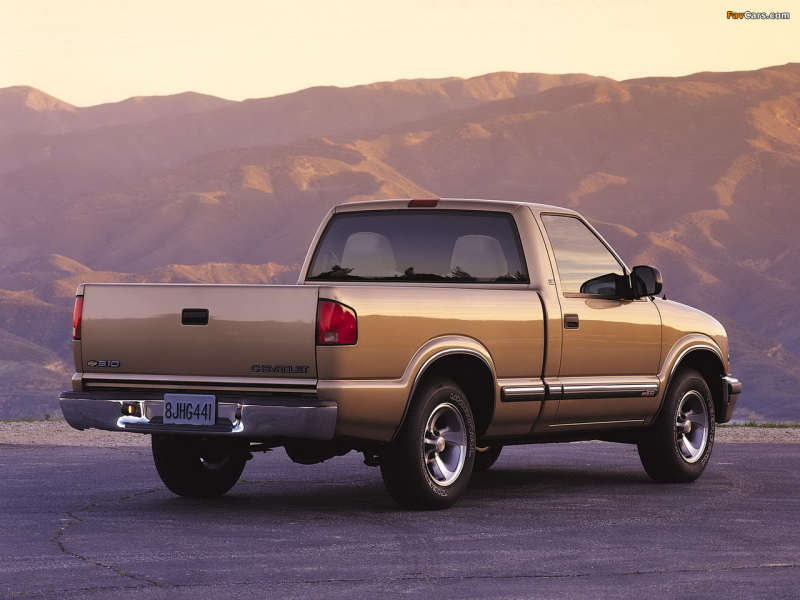 Chevrolet S-10 Single Cab 1998–2003 photos (1280 x 960)