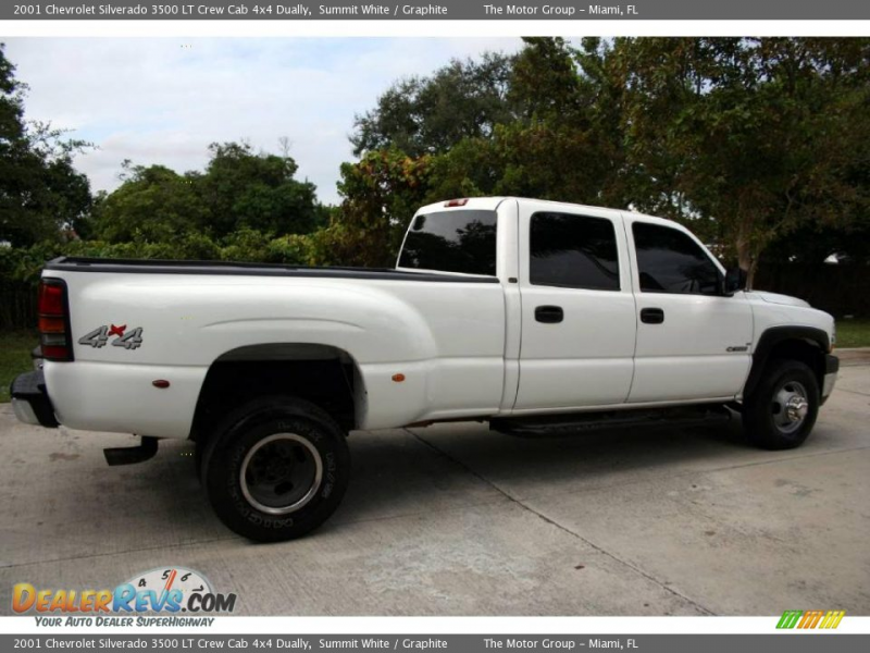 2001 Chevrolet Silverado 3500 LT Crew Cab 4x4 Dually Summit White ...