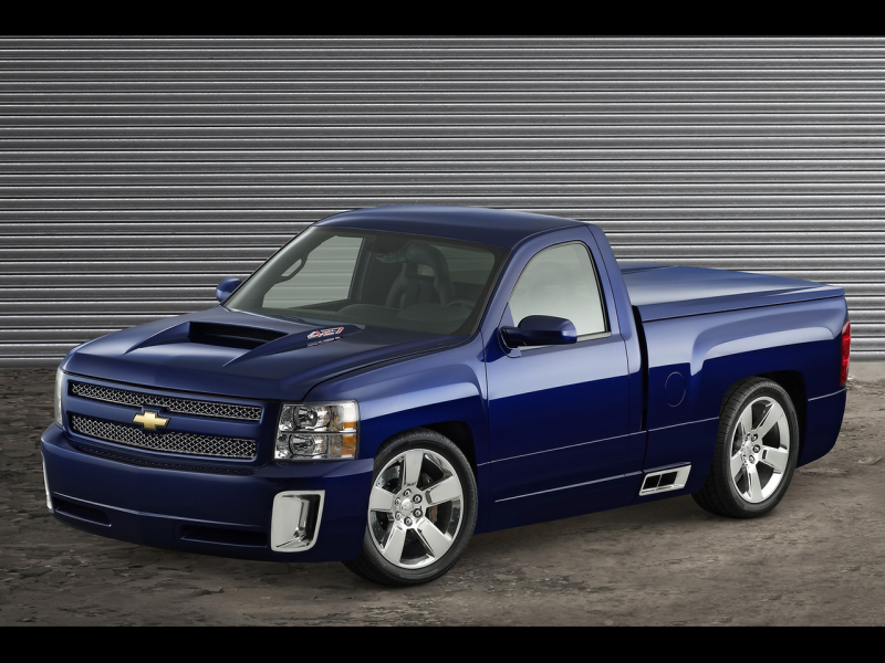 2006 Chevrolet Silverado 427 - Side Angle - 1280x960 - Wallpaper