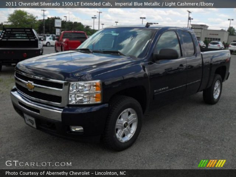 Imperial Blue Metallic 2011 Chevrolet Silverado 1500 LT Extended Cab ...