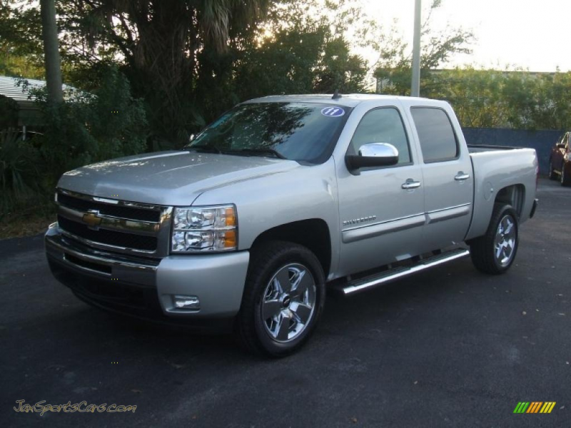 2011 Chevrolet Silverado 1500 LT Crew Cab in Sheer Silver Metallic ...