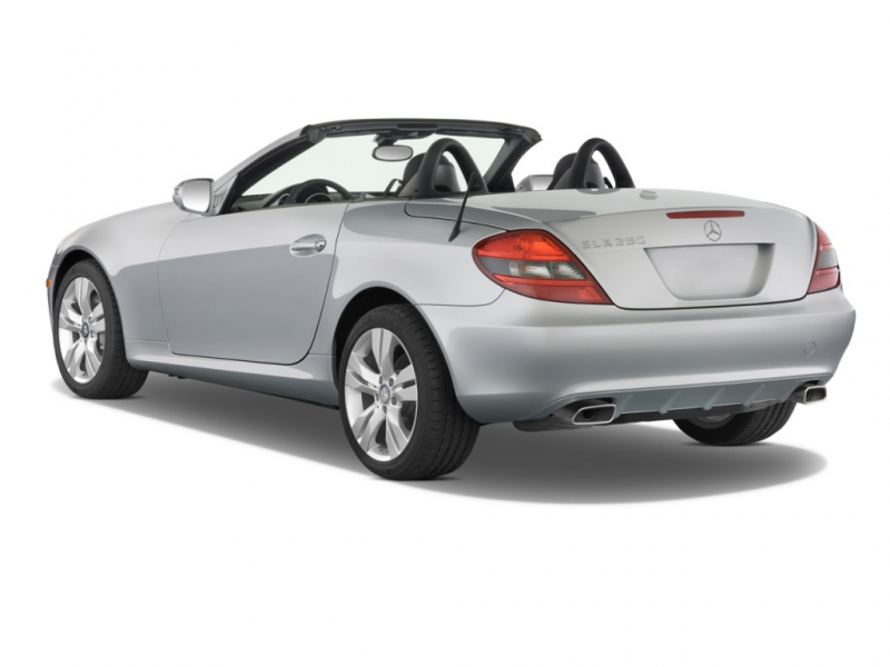 2011 Mercedes-Benz SLK Class 2-door Roadster SLK350 Angular Rear ...