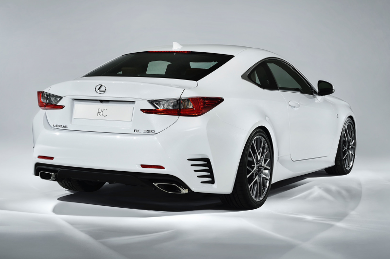 2015 Lexus Rc 350 F Sport Rear Side View