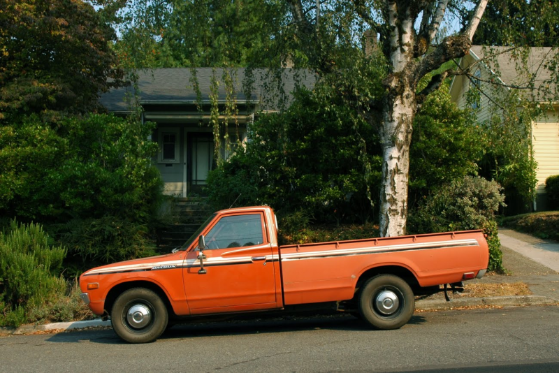 1976-Datsun-620-Pickup-Truck-L20-B-L20B-Engine-3n71-automatic-5-speed ...