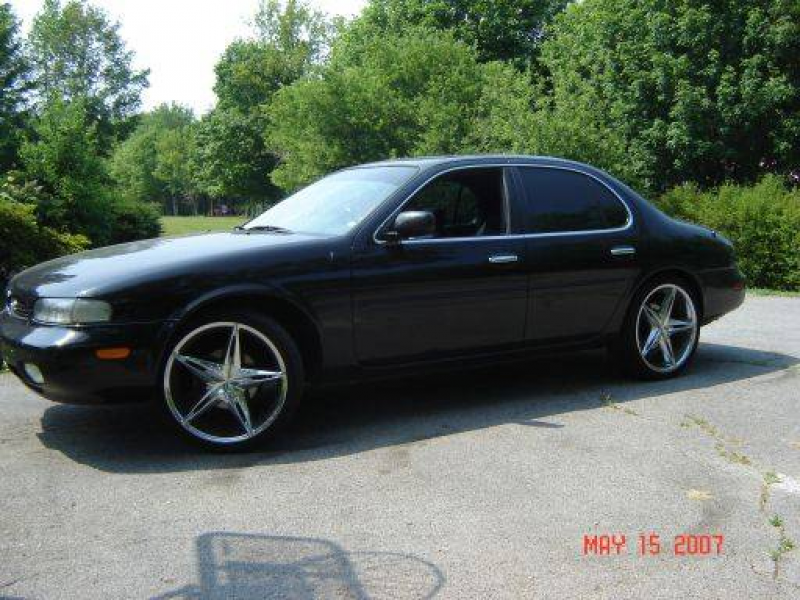 96 Infiniti J30.. Black with black leather, power everything, tinted ...