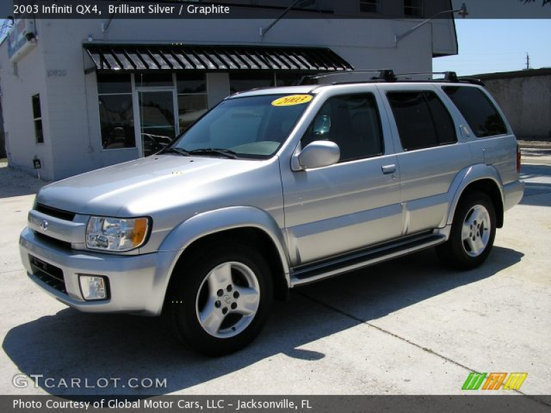 2003 Infiniti QX4 in Brilliant Silver. Click to see large photo.