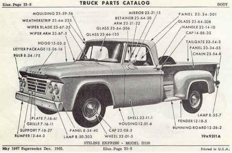 ... parts andthe sections to refer to for them. (From `63-`68 Dodge Truck