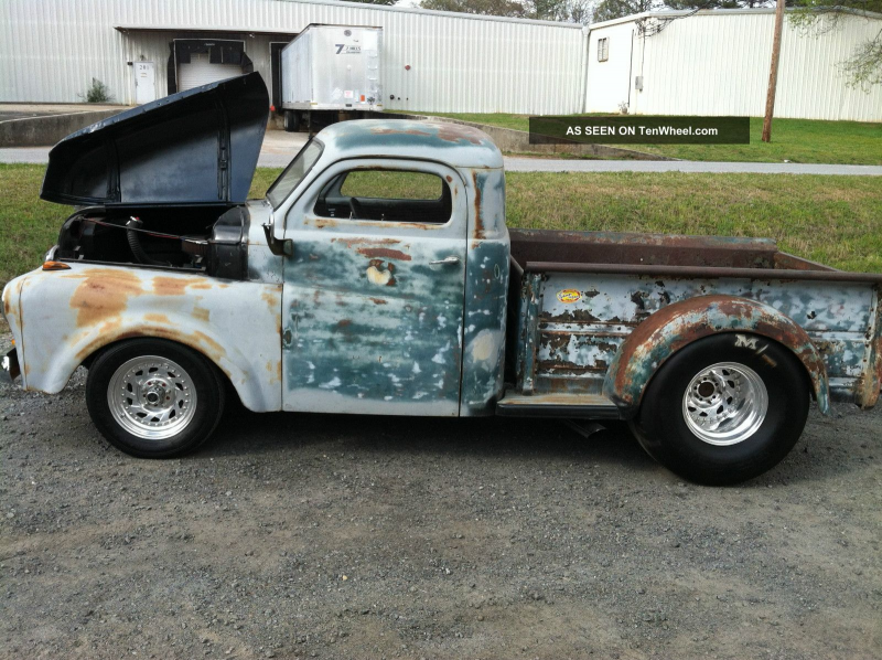 1948 Dodge Pickup Truck Rat Rod 355 Engine Custom Frame Racing Wheels ...