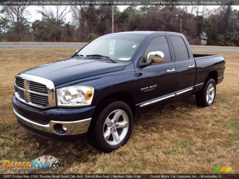 2007 Dodge Ram 1500 Thunder Road Quad Cab 4x4 Patriot Blue Pearl ...