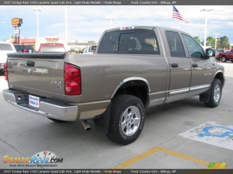 2007 Dodge Ram 1500 Laramie Quad Cab 4x4 Light Khaki Metallic / Khaki ...