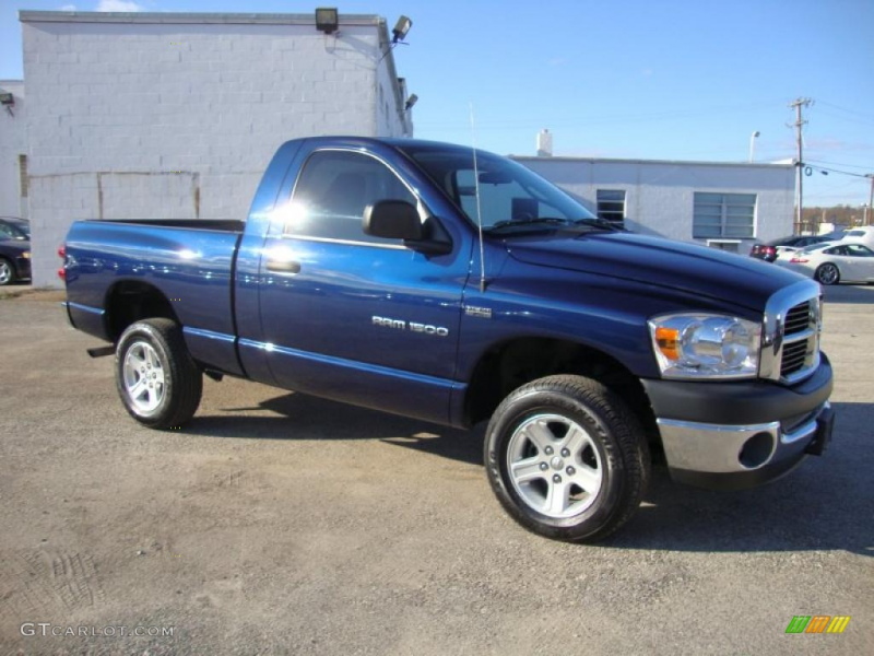 Patriot Blue Pearl 2007 Dodge Ram 1500 SLT Regular Cab 4x4 Exterior ...