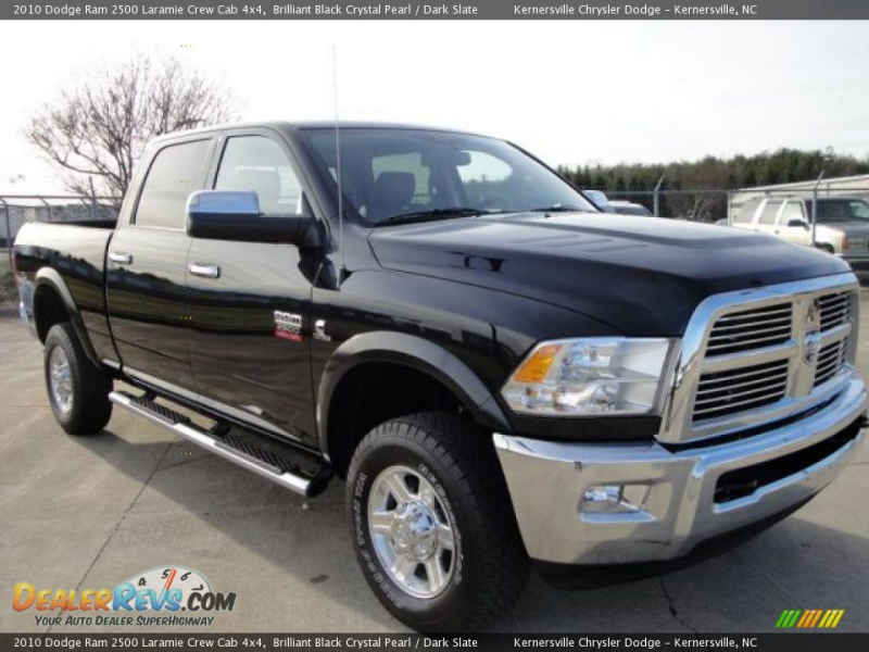 2010 Dodge Ram 2500 Laramie Crew Cab 4x4 Brilliant Black Crystal Pearl ...