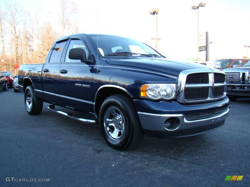 2004 Ram 1500 SLT Quad Cab - Patriot Blue Pearl / Dark Slate Gray ...