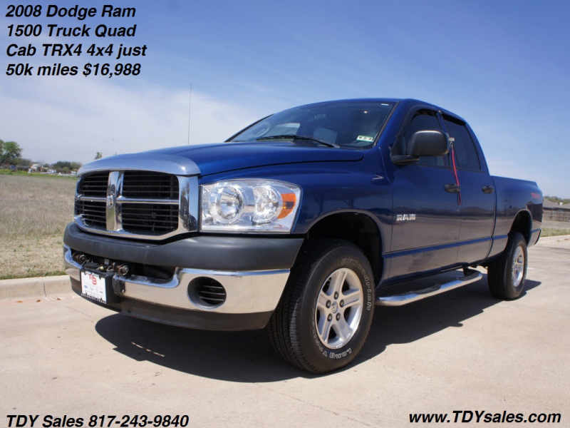 For Sale - 2008 Dodge Ram 1500 Truck Quad Cab TRX4 4x4 just 50k miles ...