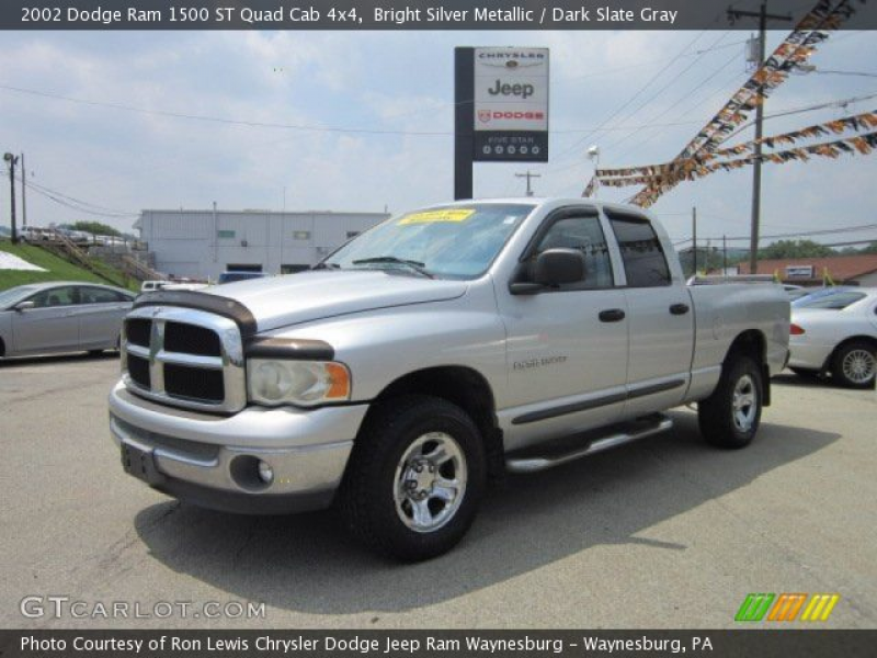 2002 Dodge Ram 1500 ST Quad Cab 4x4 in Bright Silver Metallic. Click ...