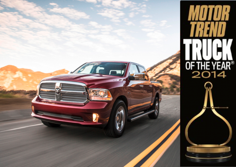 The 2014 Ram 1500 is the only pickup to win Truck of the Year for two ...