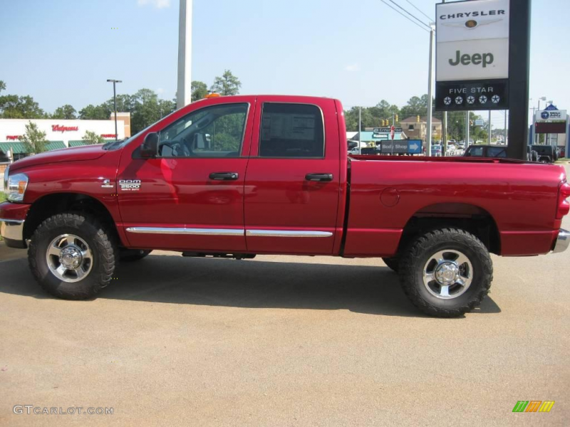 2009 Dodge Ram 2500 SLT Quad Cab 4x4 - Inferno Red Crystal Pearl Color ...