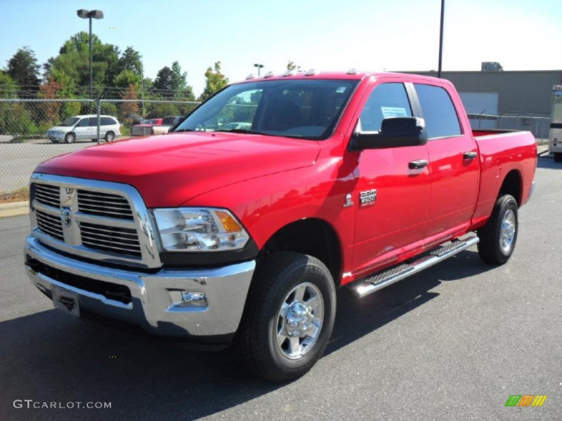 2010 Dodge Ram 2500 Big Horn Edition Crew Cab 4x4 - Flame Red Color ...