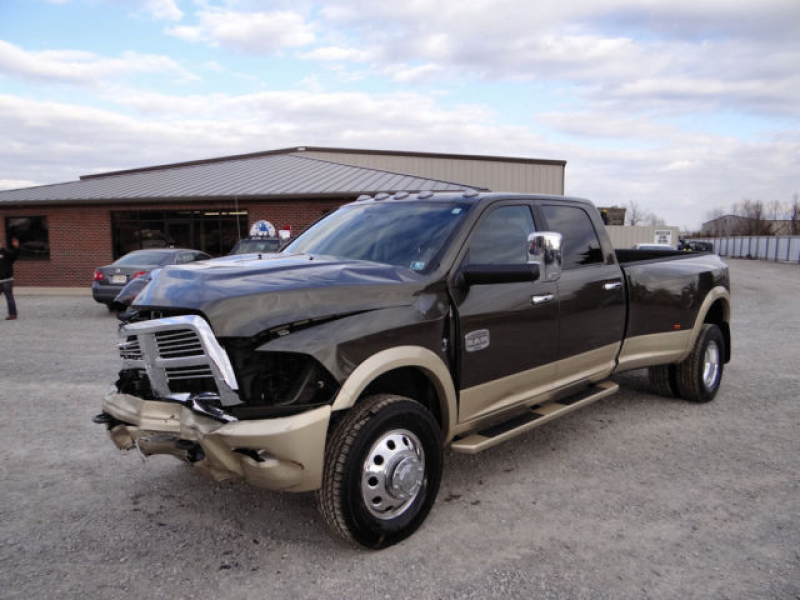 Salvage Repairable, Dodge Laramie Limited 3500 Dually 4x4, Loaded, 17k ...