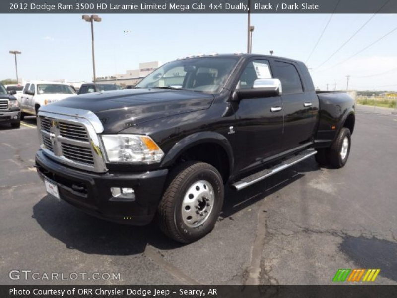 Black 2012 Dodge Ram 3500 HD Laramie Limited Mega Cab 4x4 Dually with ...