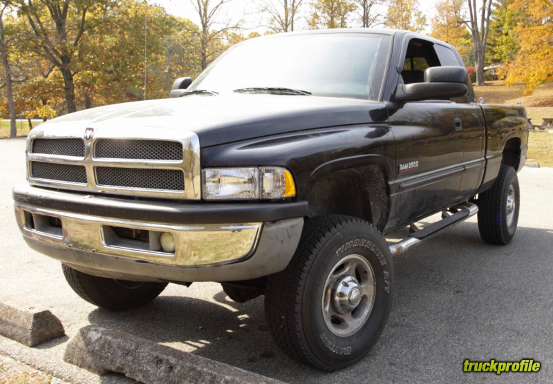 "Description: 2002 Dodge Ram 2500, Quad Cab, Short Bed, 2.5"" leveling ..."