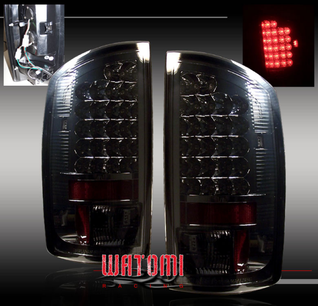 Details about 2002-2006 DODGE RAM 1500 LED TAIL LIGHT SMOKE 2004 2005