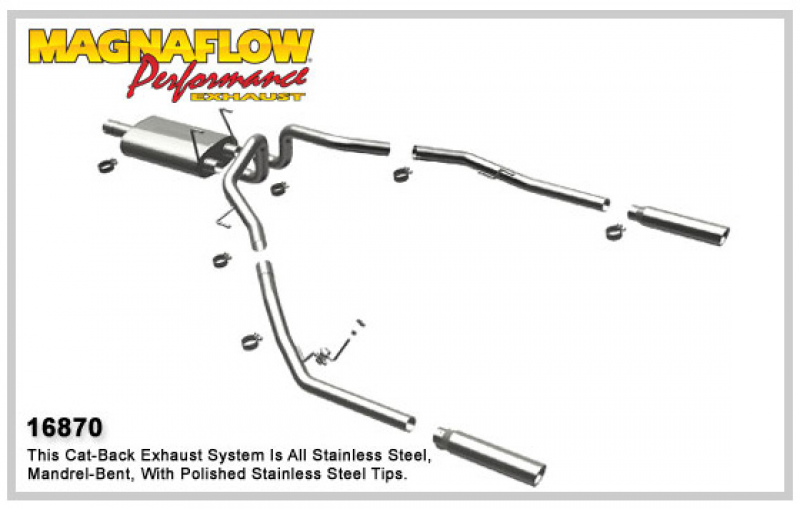 DODGE TRUCK RAM 1500 TRUCK Stainless Cat-Back System PERFORMANCE ...