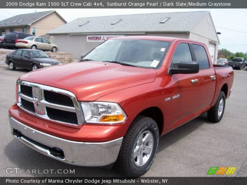 2009 Dodge Ram 1500 SLT Crew Cab 4x4 in Sunburst Orange Pearl. Click ...