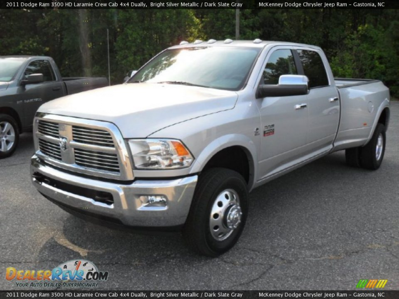 2011 Dodge Ram 3500 HD Laramie Crew Cab 4x4 Dually Bright Silver ...