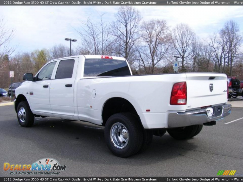 2011 Dodge Ram 3500 HD ST Crew Cab 4x4 Dually Bright White / Dark ...