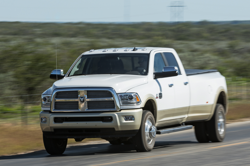 2014 Ram 3500 Laramie Longhorn Front Three Quarters In Motion