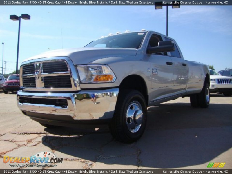 2012 Dodge Ram 3500 HD ST Crew Cab 4x4 Dually Bright Silver Metallic ...