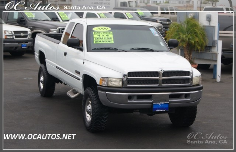 2000 Dodge RAM 2500 TURBO DIESEL MANUAL TRANSMISSION 4X4 in Santa Ana ...