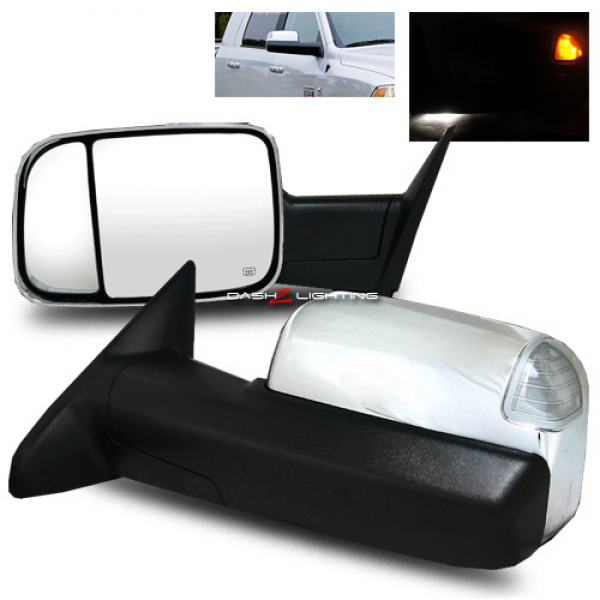 10-12 Dodge Ram 2500/3500 Extendable Towing Power Mirrors w/ LED ...