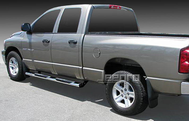New-5-S-S-Oval-Wide-Side-Step-Bars-Fit-Ram-1500-2500-3500-Quad-Cab