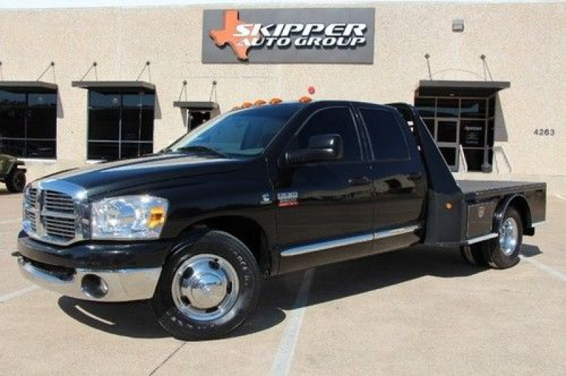 09 DODGE RAM 3500 DIESEL DUALLY 2WD FLAT BED SLT BRAND NEW TIRES, US $ ...
