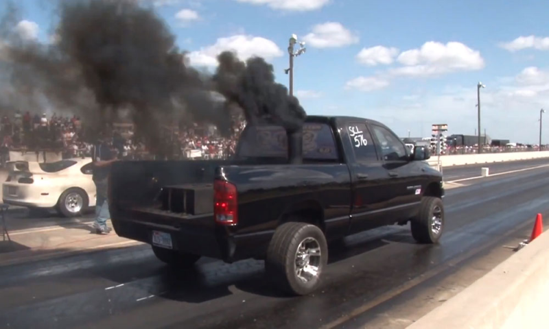 1100 HP Dodge Ram 2500 Smokes Dodge Viper