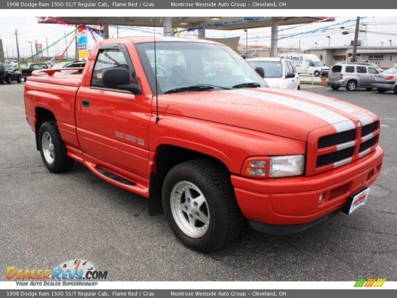 1998 Dodge Ram 1500 SS/T Regular Cab Flame Red / Gray Photo #8