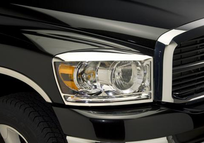 Dodge Ram Accessory - Putco Dodge Ram Chrome Headlight Covers